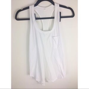 Lululemon White racerback tank top